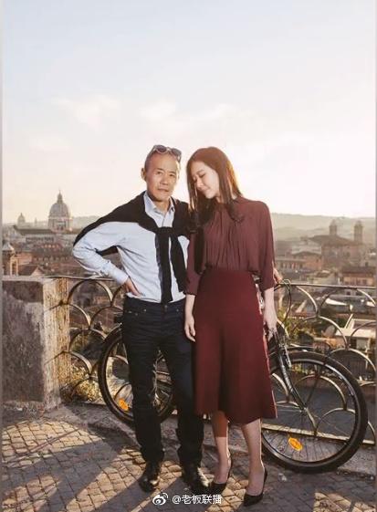 商业大佬王石和田朴珺的甜蜜写真