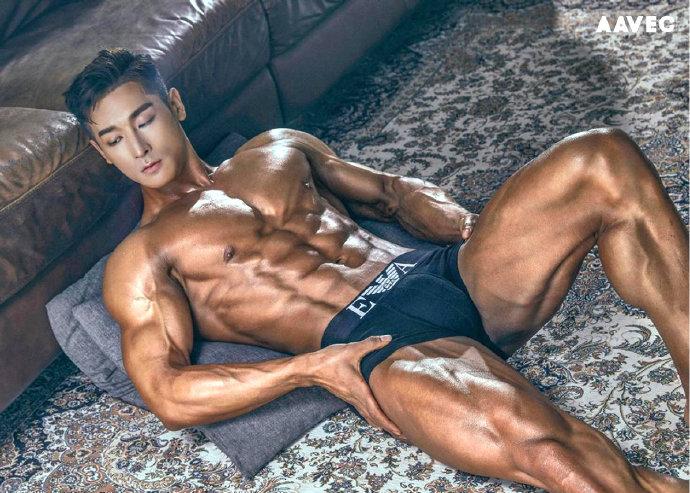 韩国健美健身明星Wbff Pro健身男模 이재교
