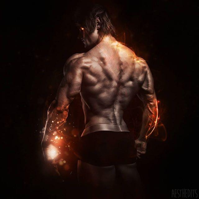 展示肌肉艺术