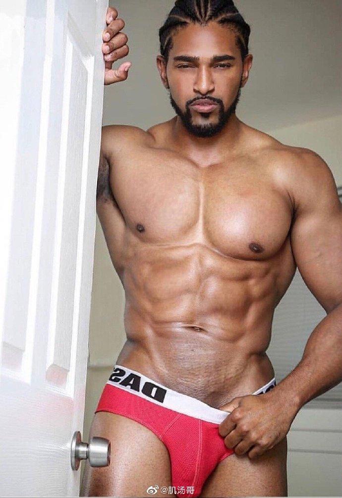 帅哥发型有型肌肉有料屌够大