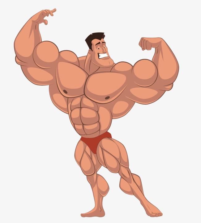 动漫卡通肌肉男图片